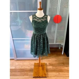 NWOT Altar'd State Daisy Green Lace Dress